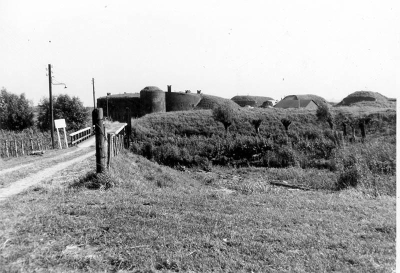 Houten brug 1966 Fort Buitensluis