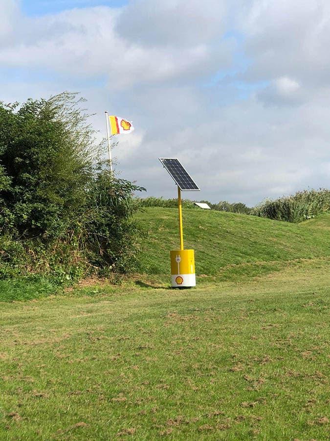 Shell laadpaal zonne-energie